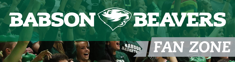 Picture of crowd. Babson Beavers Fan Zone.